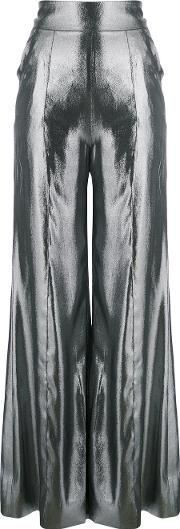 Wanda Nylon High Waisted Palazzo Pants Women Silkpolyester 38, Grey