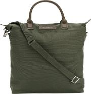 Want Les Essentiels De La Vie O Hare Shopper Bag Unisex Cottonleather One Size, Green