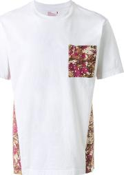 T Shirt With Contrasting Printed Panels Men Cottonlinenflaxrayon 3