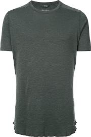 Wings Horns Round Neck T Shirt