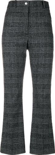 Plaid Cropped Trousers