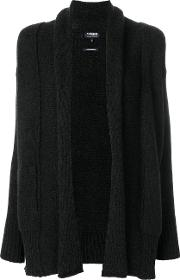 Woolrich Long Open Cardigan Women Camel Hairwoolpolyimide Xs, Black