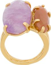 Technofossils Amethyst And Sunstone Ring