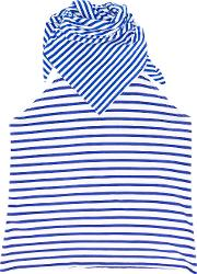 Striped Bib Scarf Unisex Cotton One Size, Blue