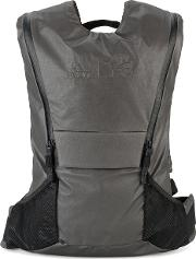 Run Backpack Men Polyesterpolyethyleneother Fibers One Size, Grey
