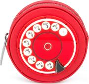 'phone' Coin Purse Women Leatherplexiglass One Size, Red