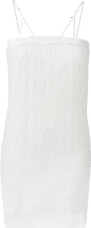 Embellished Slip Dress Women Silkspandexelastane S, White