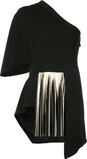 One Shoulder Pleated Blouse