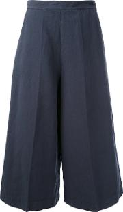 Flared Culottes Women Cottonlinenflax 6, Blue