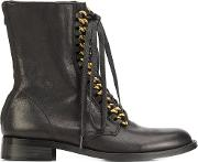 Chain Back Zip Boots