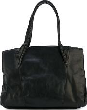 Classic Tote Unisex Horse Leather One Size, Black