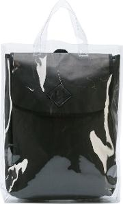 Double Backpack Men Paperpolyamide One Size, Black
