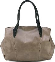 Double Straps Tote Women Horse Leather One Size, Grey
