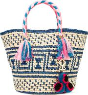 Manya Tassel Rope Tote Women Cottonstraw Brown One Size