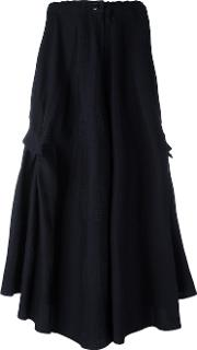 Y's Asymmetric A Line Skirt Women Cotton 1, Women's, Blue