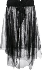 Y's Asymmetric Tulle Skirt Women Cottonnylon 2