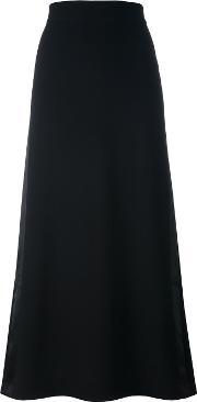 Y's Long Skirt Women Silknyloncuprowool 2, Women's, Black
