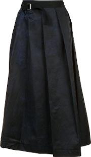 Y's Pleated Skirt Women Cottonviscose 1, Blue