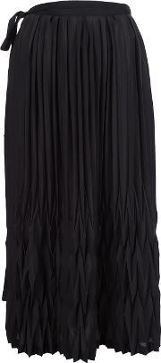 Y's Pleated Skirt Women Polyester 2, Women's, Black