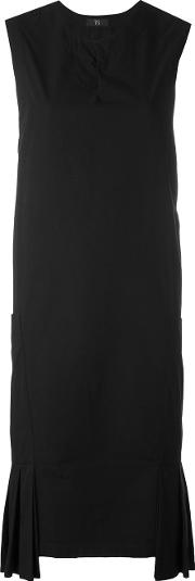 Y's Pocket Dress With Pleats Women Cotton 2, Black
