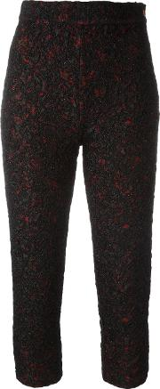 Textured Cropped Trousers