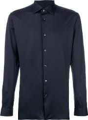 Z Zegna Classic Shirt Men Cotton 42, Blue