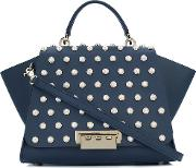 Eartha Iconic Soft Top Handle Tote Women Calf Leathermetal One Size, Blue