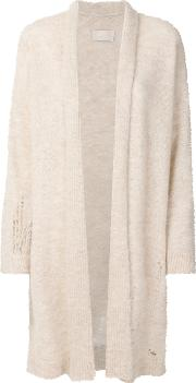 Distressed Mid Length Cardigan