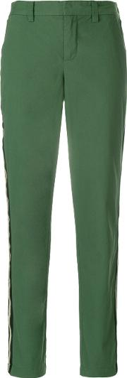 Side Stripe Fitted Trousers