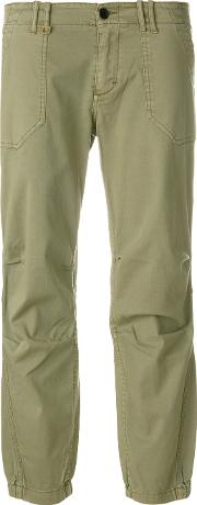 Zadig & Voltaire Cropped Trousers Women Cottonspandexelastane 40, Green