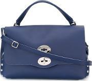 'postina' Satchel Women Leather One Size, Women's, Blue