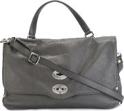 Medium 'postina' Satchel Women Calf Leather One Size, Grey