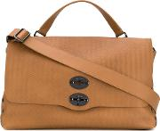 Postina Tote Men Leather One Size, Brown