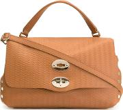 Small 'postina' Satchel Women Leather One Size, Nudeneutrals