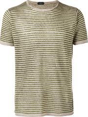 Knitted Striped T Shirt