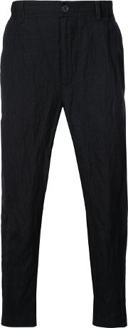 Ziggy Chen Relaxed Fit Trousers Men Cottoncuprowoolmetal 48, Black