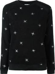 Spider Embroidered Jumper Women Polyesterspandexelastane L, Black