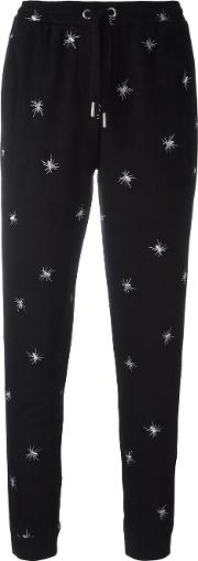 Spider Embroidered Track Pants Women Polyesterspandexelastane M, Black