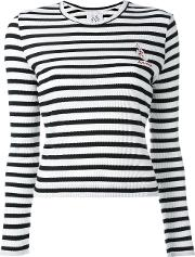 Striped Slim Fit Jumper Women Cottonviscose S, White