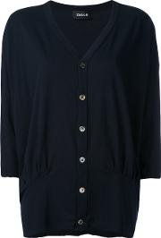 Button Up Cardigan Women Cottonlinenflax M, Blue