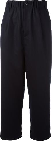 Cropped Trousers Women Nylonpolyurethanecashmerewool L, Blue