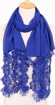 Warm Fashion Rose Hollow Out Scarf