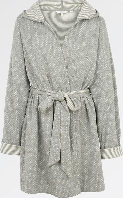 fat face Snow Stripe Dressing Gown   Obsessory