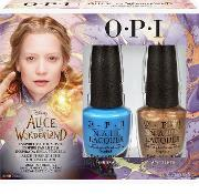 Opi Nail Lacquer  In Wonderland Collection  Duo Pack