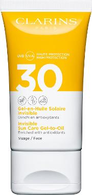 Clarins Invisible Sun  Gel To Oil For Face Spf30 50ml