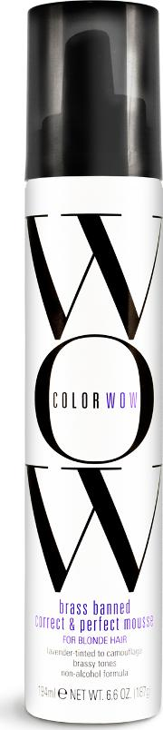 lor Wow Brass Banned rrect & Perfect Mousse For Blonde Hair 200ml