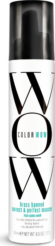 lor Wow Brass Banned rrect & Perfect Mousse For Dark Hair 200ml