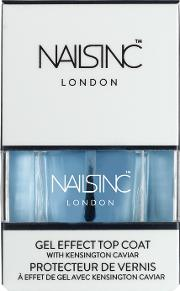 Nailsinc Gel Effect Top at With Kensington Caviar 14ml