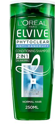 L'oreal Paris  Phytoclear Anti Dandruff 2in1 Conditioning Shampoo 250ml