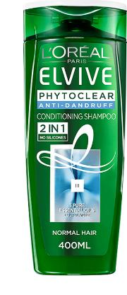 L'oreal Paris  Phytoclear Anti Dandruff 2in1 Conditioning Shampoo 400ml
